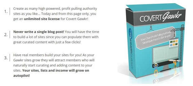 Covert Gawkr Software Review - Brand New WP Theme to Build a Profit Pulling Authority Site in Minutes without Writing a Single Word